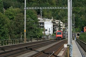 D Iisebahnbrugg vo Wettige uf Bade (Foti: User:Badener; Quelle: commons wikimedia; Lizenz: cc-by-3.0)