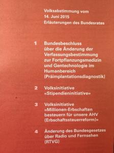 S Abstimmigsbüechli für de 14. Juni