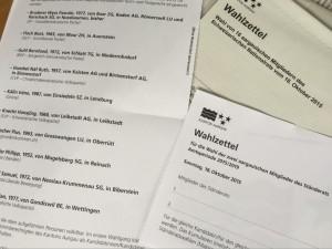 Wahlzettel SR-Wahl 2015